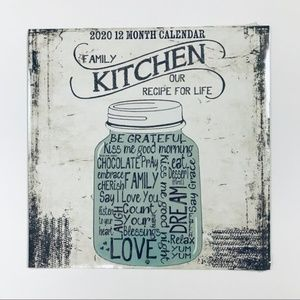 NWT Home Decor Calendar 2020 with Kitchen Quotes